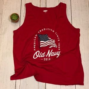 Old navy patriotic tank top